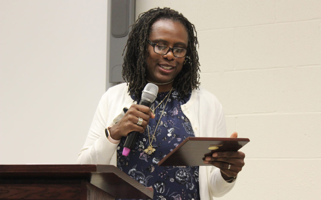 Cathy Breen and Wynnie-Fred Victor Hinds receive award