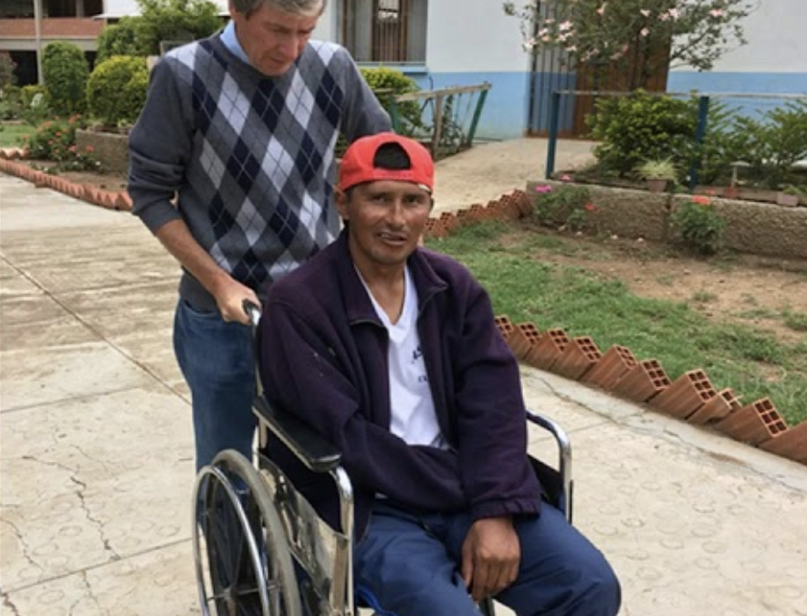 John O'Donoghue serving at Missionaries of Charity center in Cochabamba
