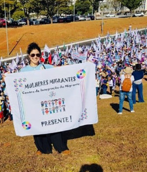 Margarita marches in the March of Margaridas