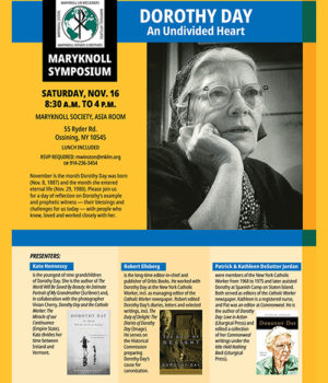 Nov. 16 Maryknoll Symposium on Dorothy Day to be livestreamed